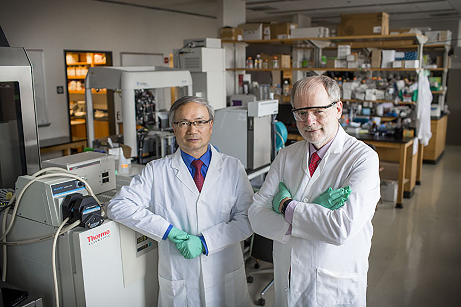"The ""Biological Discovery through Chemical Innovation"" initiative is led by professors Haian Fu and Huw Davies"
